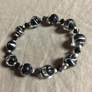 New Givenchy onyx sterling silver bracelet